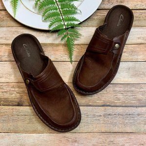 Clarks Mule/Clogs shoes size 8 Brown Slip On